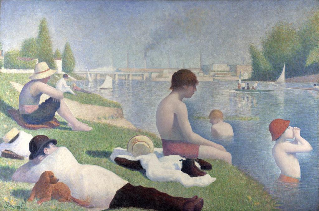 baigneurs à Asnières